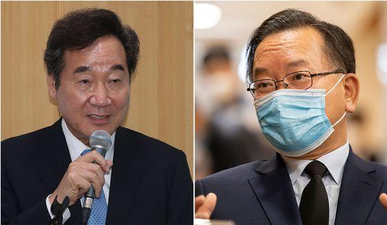 이낙연 더불어민주당 의원(왼쪽)과 김부겸 전 민주당 의원. [뉴스1, 연합뉴스]