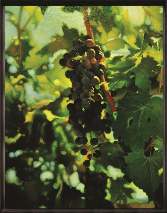 김형곤, 포도, oil on canvas, 91x11.6x2.5cm, 2020. [나마갤러리]