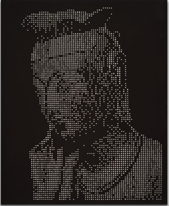 이동재, 아이콘 반가사유상, acrylic, crystal on canvas, 65x53cm, 2020. 나마갤러리]