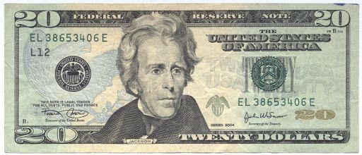 미화 20달러 지폐. 중앙포토