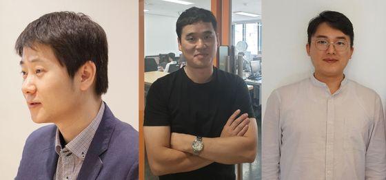 왼쪽부터 김화랑 더치트 대표, 방승온 지와이네트웍스 대표, 손동현 에스프레스토(릴리의지도) 대표 [사진 각 사]