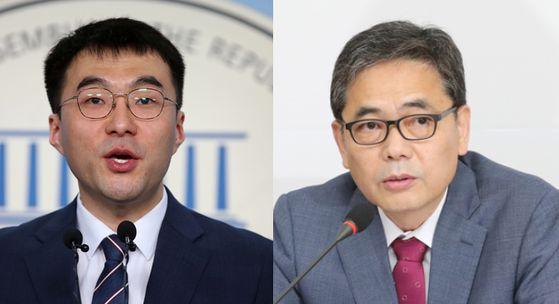 김남국(왼쪽) 더불어민주당 의원과 곽상도(오른쪽) 미래통합당 의원. 중앙포토