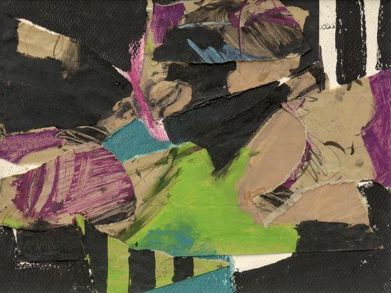 최욱경, Untitled, 1960년대, Paper collage, acrylic, and oil pastel on paper, 25 x 32.5cm. 국제갤러리]