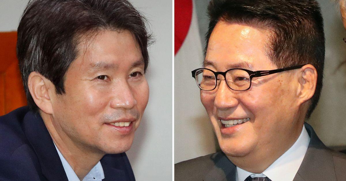 이인영 통일부 장관 후보자(왼쪽)와 박지원 국정원장 후보자. 연합뉴스·뉴스1