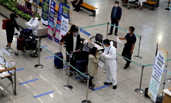 지난달 인천국제공항1터미널 입국장 모습. 뉴스1