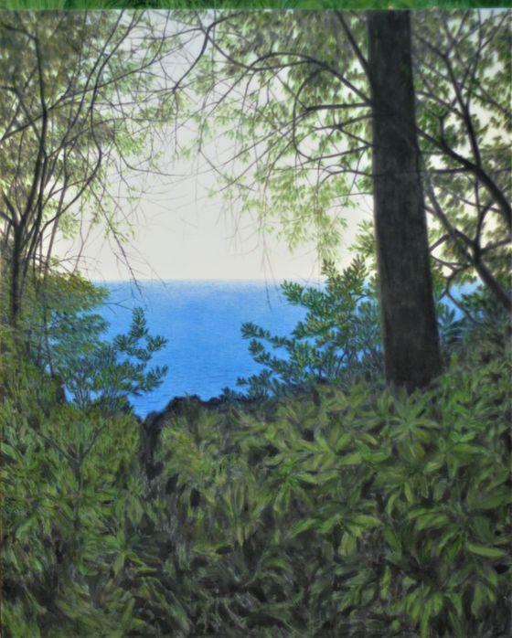 김보희, Over the Trees - An Autumn High Noon, 2019, Color on canvas, 162x130cm.[사진 금호미술관]