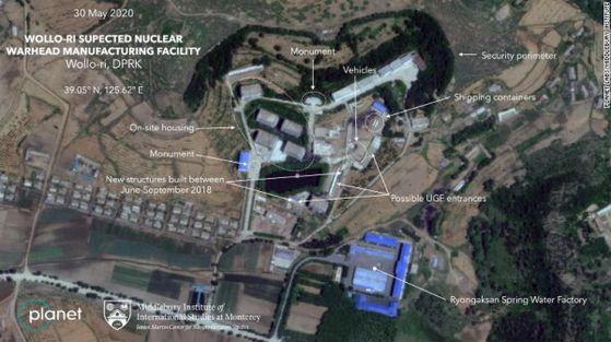 CNN이 확보한 플래닛 랩스의 북한 평양 만경대구역 원로리에 있는 핵 개발 추정 시설 위성사진. [CNN 홈페이지 캡처]