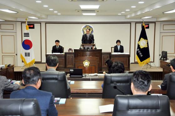 대전 중구의회 장면. 중앙포토