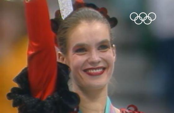 독일 피겨 여제 카타리나 비트 선수가 1988년 동계올림픽에서 금메달을 딴 모습. [국제올림픽경기대회 유튜브]