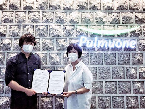 사진-비바이노베이션 김승범 CMO와 풀무원녹즙 남기선 사업부장이 기념사진을 촬영하고 있다