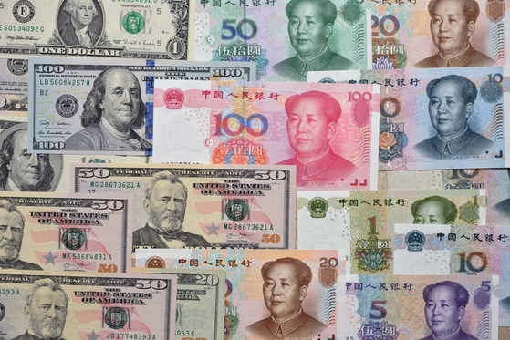미국 달러화와 중국 위안화 [중앙포토]