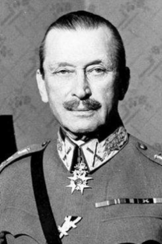 겨울전쟁을 이끈 핀란드의 카를 구스타프 에밀 만네르하임(1867~1951) 원수. 스웨덴계 소수민족으로 핀란드어에도 서툴었지만 전쟁을 성공적으로 이끌어 1944~46년 대통령을 지냈으며 지금도 '핀란드의 국부'로 통한다.[중앙포토]