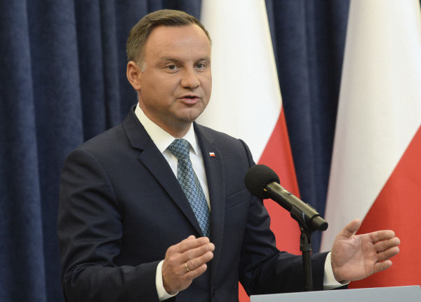 안드레이 두다 폴란드 대통령. AP=연합뉴스