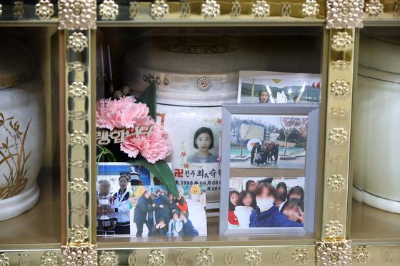 트라이애슬론 국가대표 출신 고(故) 최숙현 선수는 경북의 한 사찰 추모관에 잠들어 있다. 뉴스1