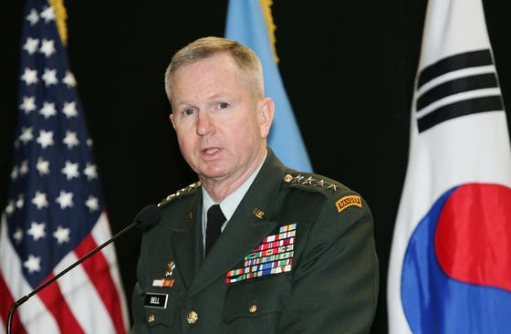 2006~2008년 재임한 버웰 벨 전 주한미군 사령관. 중앙포토