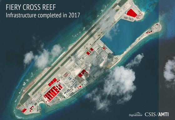 동중국해와 남중국해 일대 인공섬들은 중국의 신호정보 수집 및 군사기지화됐다. [amti.csis.org]