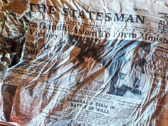 타임캡슐 알프스 빙하 녹아내리자, 50년 전 인도 신문이 나왔다