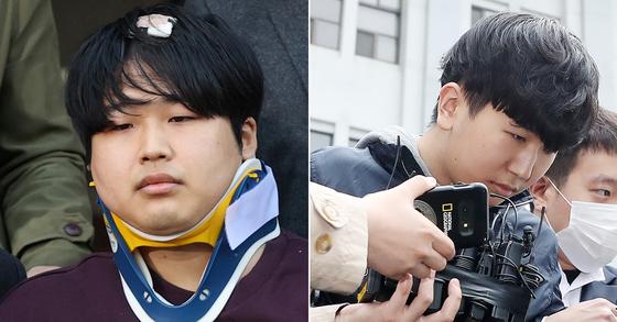 n번방 사건의 주범인 '박사' 조주빈(왼쪽)과 공범 '부따' 강훈. [뉴스1]