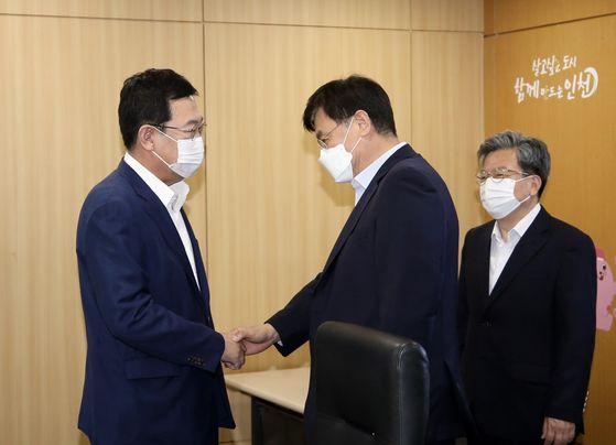 인천시·연세대, 송도세브란스병원 건립 등 현안 논의