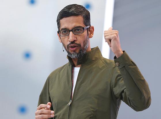 순다르 피차이 구글 CEO. 로이터=연합뉴스
