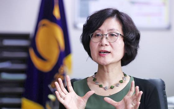 권인숙 민주당 의원. 김상선 기자