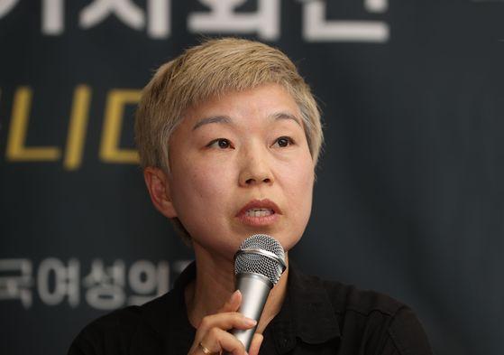 고 박원순 서울시장을 성추행 혐의 등으로 고소한 피해여성을 대리하는 김재련 변호사가. 뉴시스