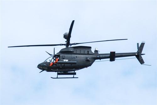 16일 추락 사고가 난 대만군 OH-58D 헬기. 연합뉴스