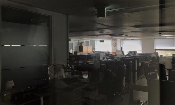 불꺼진 이스타항공 사무실. 문희철 기자