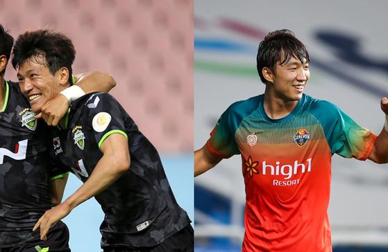 리그 5골로 득점 공동 5위에 오른 전북 한교원과 강원 고무열. 한국프로축구연맹