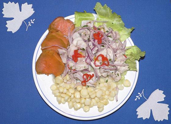 해산물을 이용한 보양식 세비체. [사진 Wikimedia Commons]