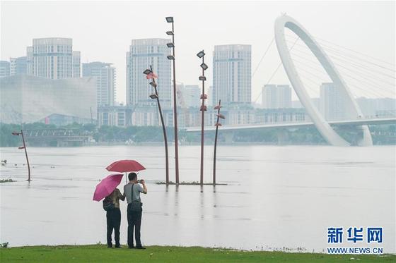 18일 난징 양쯔강 일대의 모습.[신화망 캡처]