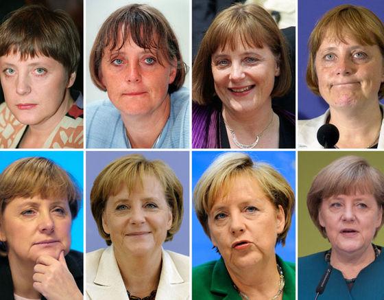 메르켈 총리의 젊은 시절부터 2017년에 이르기까지 변화 모습 [중앙포토]