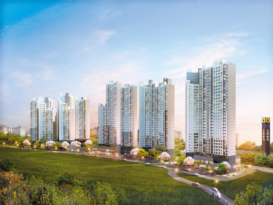 미래가치가 뛰어난 서울 서남권에 공급 중인 지역주택조합 아파트인 '오류동 리엔비' 투시도. 청약통장이 필요없는 데다, 가격도 주변 시세보다 훨씬 낮아 실수요자는 물론 투자자의 관심이 크다.