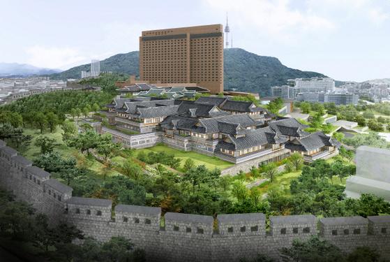 신라호텔 부지 내 지어지는 서울 도심 최초 전통한옥호텔 이미지. [호텔신라 제공]