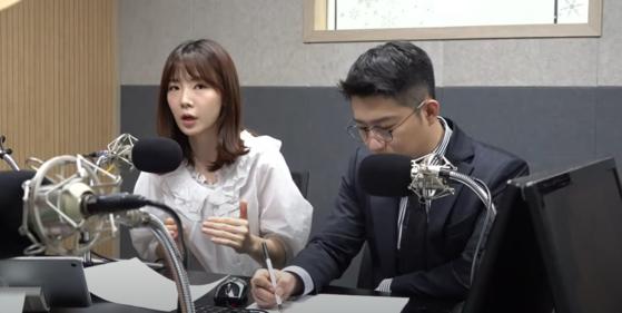 지난 16일 유튜브 채널 '이동형TV'에 출연한 박지희 프리랜서 아나운서. [사진 '이동형TV' 캡처]