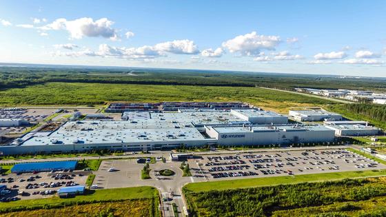 러시아 상트페테르부르크 소재 현대차 공장. 연간 23만대 생산 능력을 갖추고 있다. 사진 현대자동차