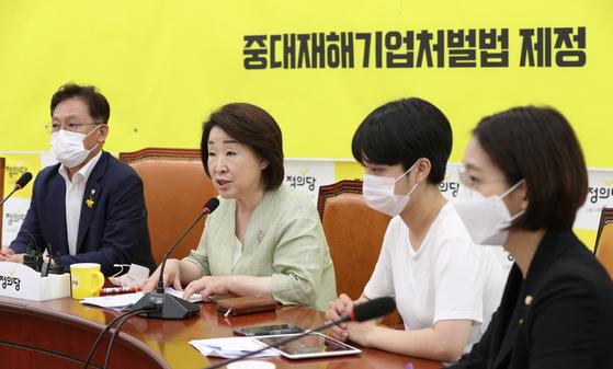 심상정 정의당 대표(왼쪽 두번쨰). 뉴스1
