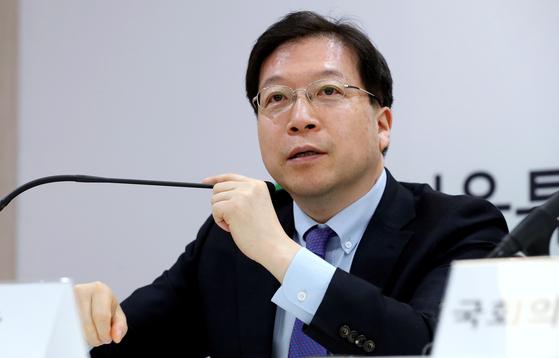 지난 20일 김세용 SH공사 사장이 서울 영등포역 대회의실에서 영등포 쪽방촌 주거환경개선 및 도시 정비를 위한 공공주택사업 추진계획을 발표하고 있다. 뉴스1.