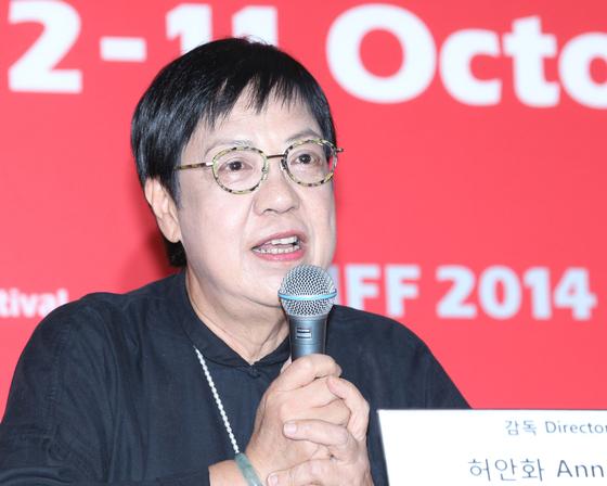 '황금시대' 부산국제영화제 기자회견에서 쉬안화 감독. 임현동 기자