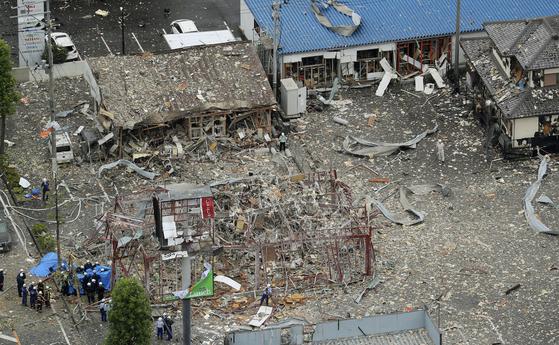 강력한 폭발로 흔적도 없이 사라져버린 음식점 건물. AP=연합뉴스