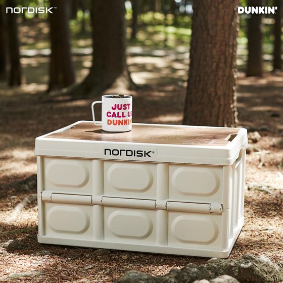 던킨도너츠와 노르디스크가 협업해 출시한 '캠핑 폴딩 박스.' 사진 던킨도너츠