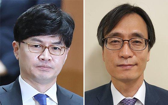 한동훈 검사장(왼쪽)과 정진웅 부장검사. [연합뉴스]