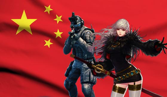 한국 게임의 중국 진출이 4년째 막혀있다. 과거 중국 진출에 성공해 현지에서 큰 인기를 끌고 있는 크로스파이어(스마일게이트), 던전앤파이터(넥슨) 캐릭터. 김정민 기자