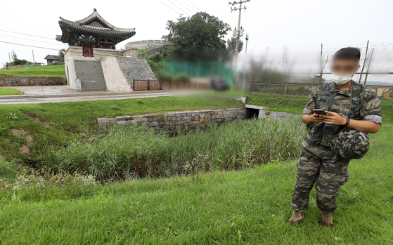 김씨가 월북 경로로 사용한 강화도 월미곶 연미정 인근 배수로. [연합뉴스]