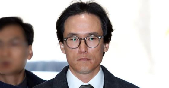 재판에 출석하는 조현범 한국타이어앤테크놀로지 사장. 연합뉴스