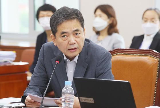 질의하는 곽상도 의원. 연합뉴스