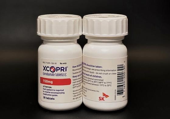 SK바이팜이 개발해 올해 5월부터 미국에서 판매가 시작된 뇌전증 신약 세노바메이트(제품명: 엑스코프리) 〈SK바이오팜 제공〉