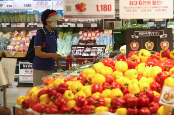 지난달 소비자물가지수가 전년 동월 대비 0.3% 상승했다. 사진은 4일 서울의 한 대형마트에서 장을 보는 시민. 연합뉴스