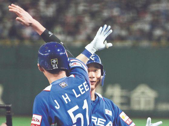 야구 국가대표팀에서도 완벽한 호흡을 자랑한다. [연합뉴스]