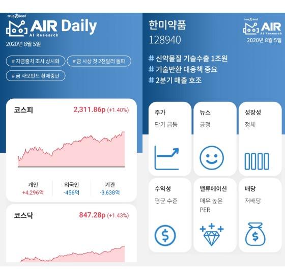 한국투자증권 '에어' 리서치 보고서 캡처.
